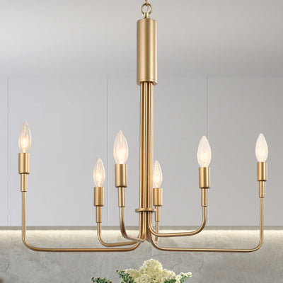 Gold Modern French Parlor Chandelier
