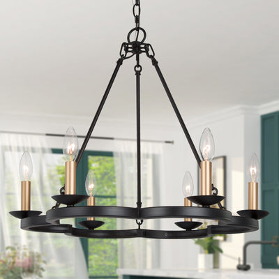 Black Iron Ring Chandelier