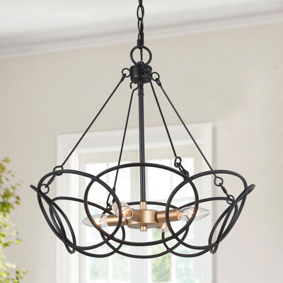 LNC Home- Round Metal Chandelier