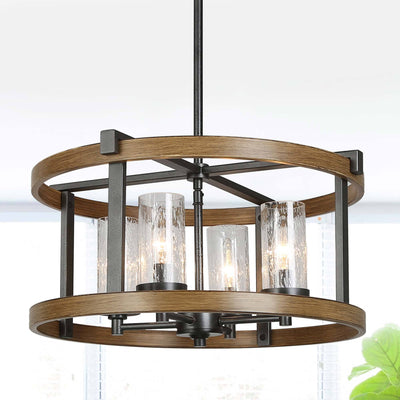 LNC Home - Industrial Farmhouse Pendant - Kitchen Island & Living Room