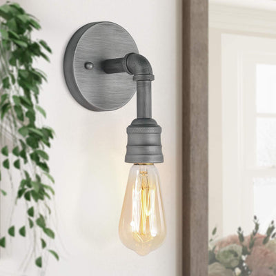 LNC Vanity Lights Water Pipe Bathroom Wall Sconce 1-Light