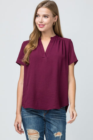 Valerie Top -- Burgundy