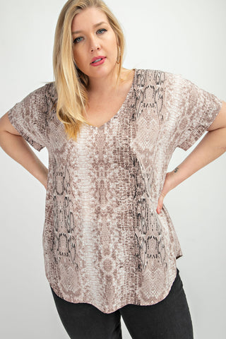 Harper Snake Top (Plus Size)