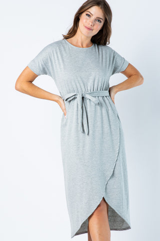 Marion Dress -- Heather Grey