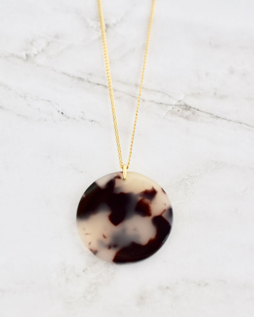 Mariella Coin Necklace -- Light Tortoise