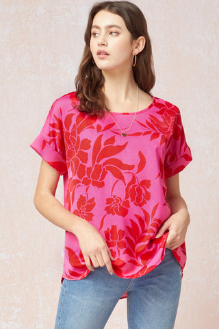 Sonja Top -- Pink/Red