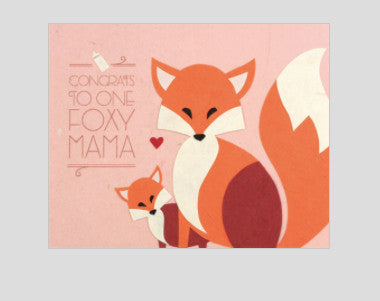 "Philippines ""Foxy Mama"" Greeting Card"