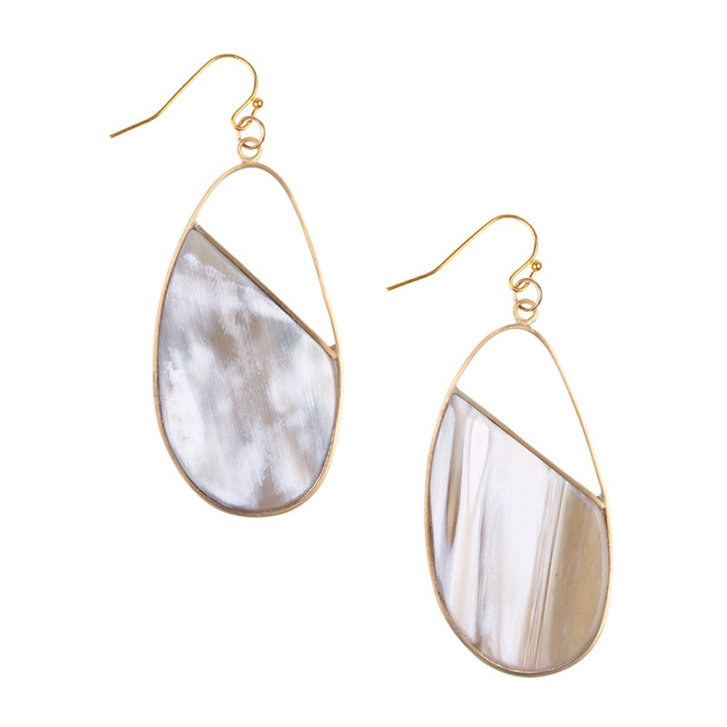 Hong Kong Earrings -- Light Polished