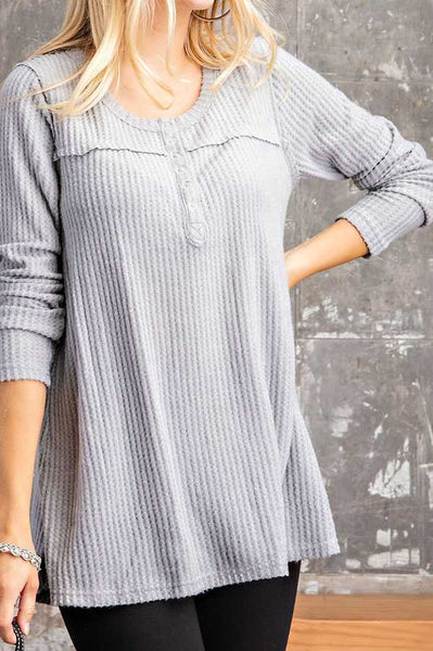 Jayna Knit Top -- Silver