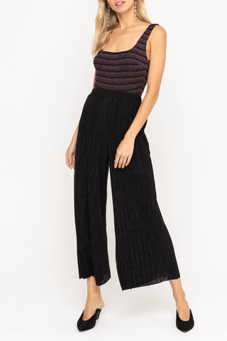 Ashley Wide Leg Pant -- Black