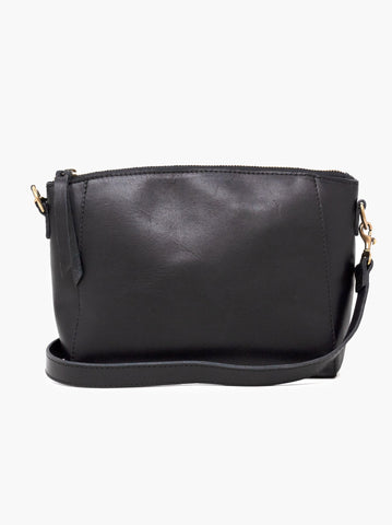 Cecilia Zip Crossbody -- Black