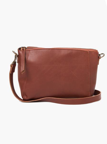 Cecilia Zip Crossbody -- Whiskey