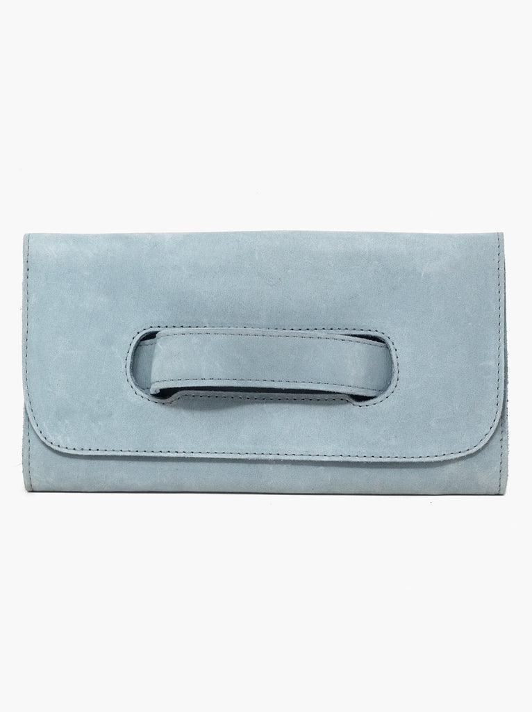 Mare Handle Clutch -- Ice Blue