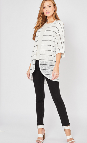Salem Striped Cardi