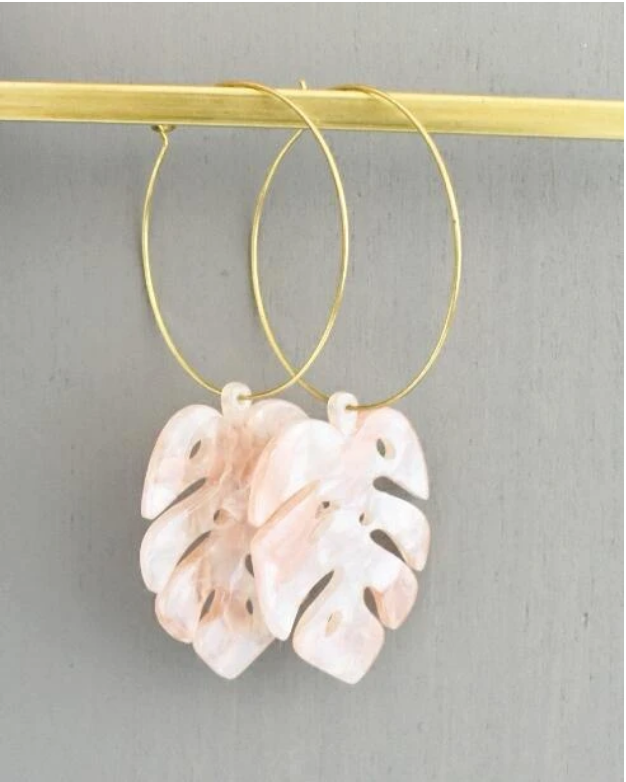 Emilia Earrings -- Blush