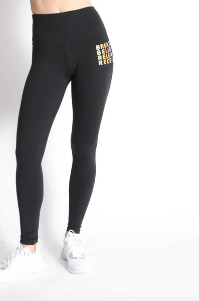 Good hYOUman Inspirational High Waisted Leggings