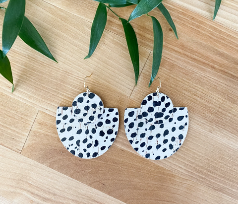 Dallas Earrings -- Dalmatian