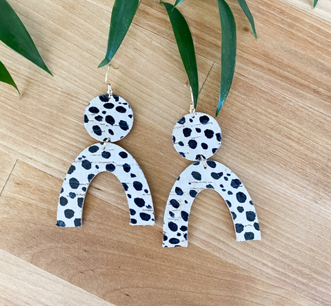 Rory Earrings -- Dalmatian