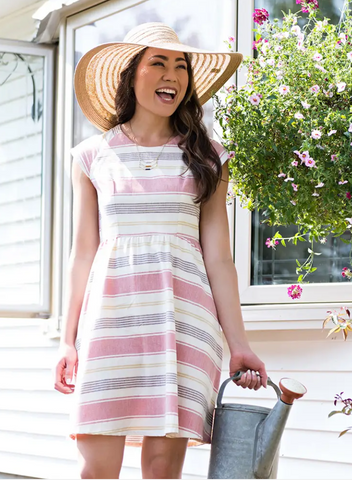 Lovely Lines Dress -- Rose Stripe