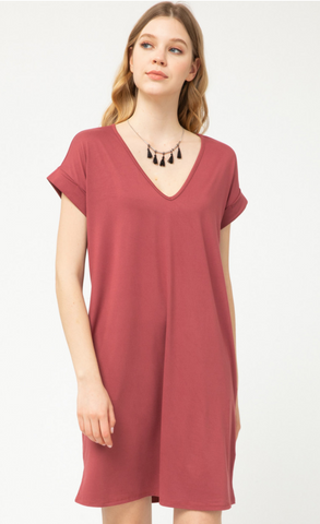 Bridget Dress -- Marsala