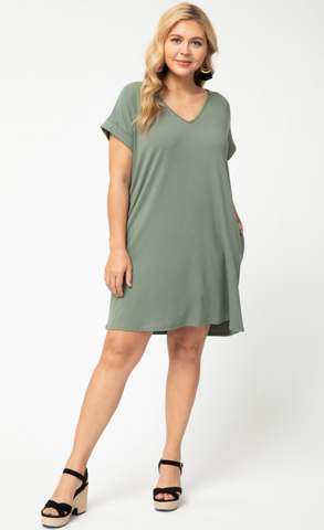 Bridget Dress -- Army (Plus Size)
