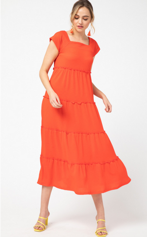 Meg Dress -- Sunkist