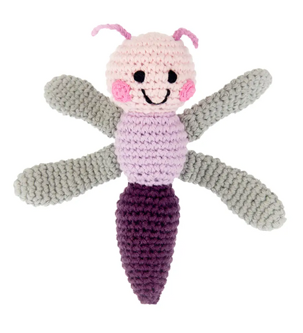Friendly Dragonfly Rattle Baby Toy