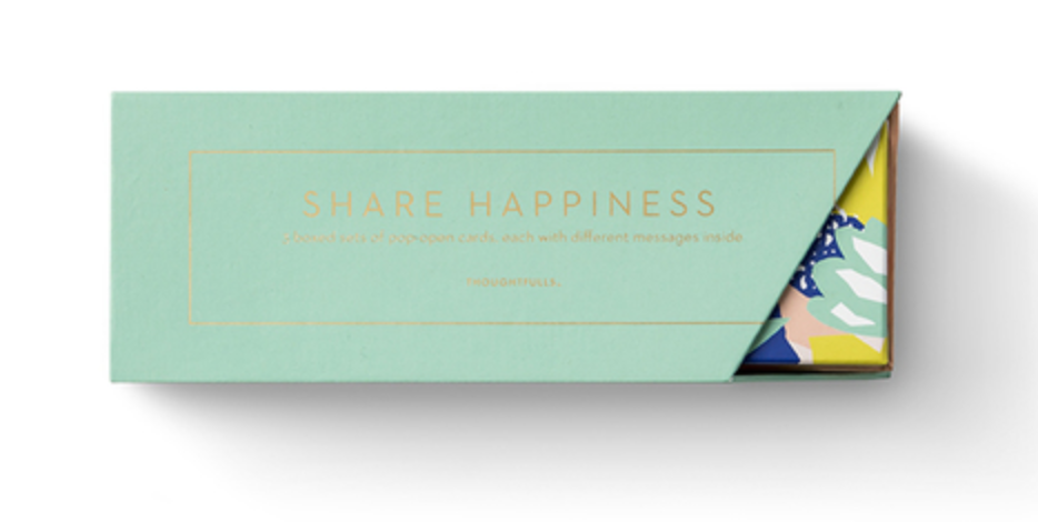 Share Happiness Boxed Pop-Open Cards