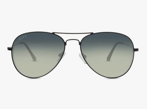 Diff Cruz Sunglasses -- Black & Grey Lens