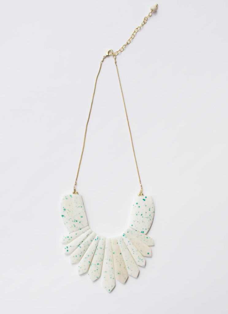 Seurat Speckle Necklace -- Blue