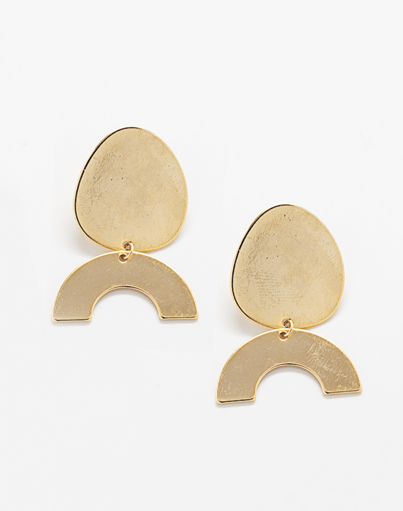 Gold Geo Dangle Earrings