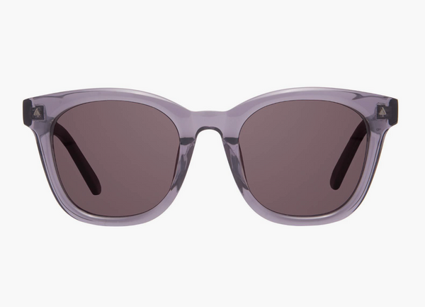 Diff Ryder Sunglasses -- Transparent Smoke + Grey Solid Lens
