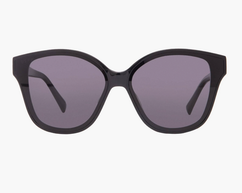 Diff Piper Sunglasses -- Black & Dark Smoke Polarized Lens