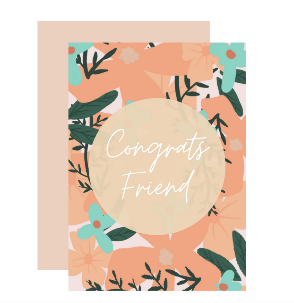 Congrats Friend Greeting Card