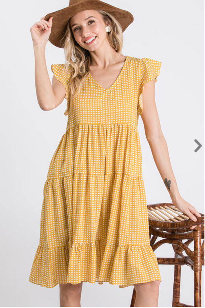 Henri Dress -- Yellow