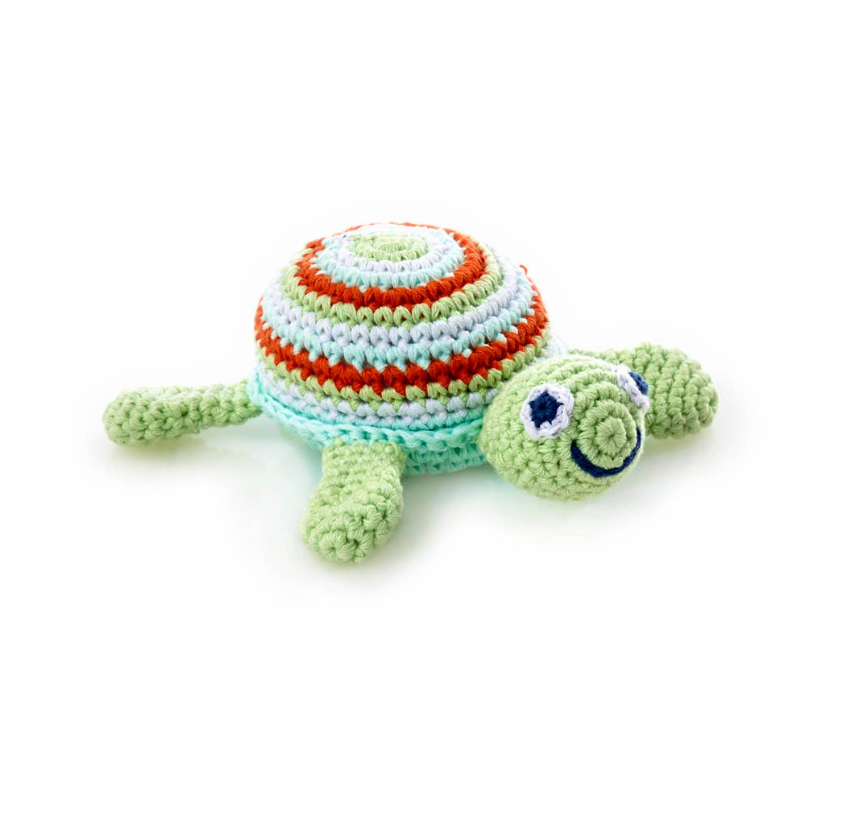 Green Sea Turtle Rattle Baby Toy
