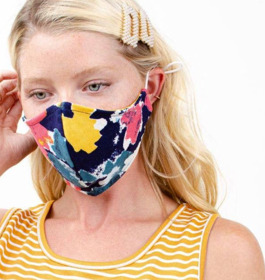 Face Mask -- Indigo Sunflower