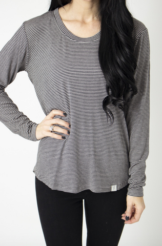 Pepper Long Sleeve Scoop Tee