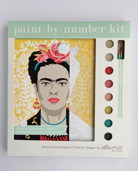 Frida with Flowers Paint-by-Number Kit