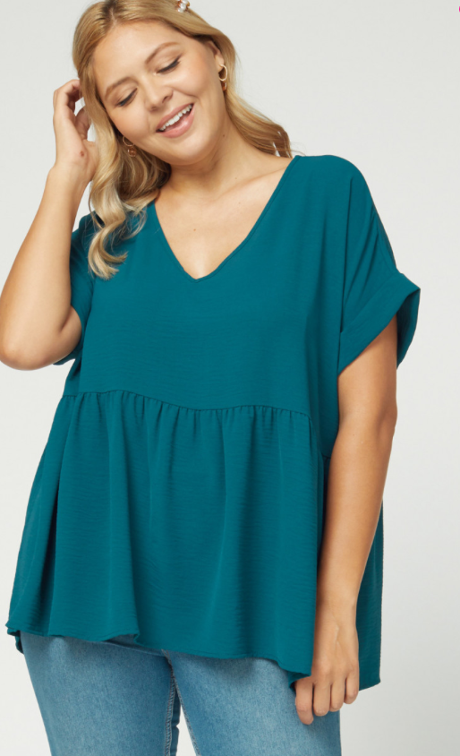 Genny Top -- Teal (Plus)