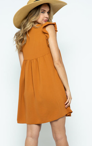 Bea Dress -- Rust