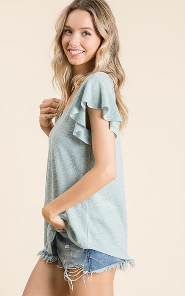 Clair Top -- Mint