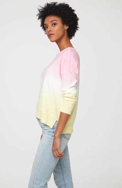 Pauline Sweater -- Yellow/Pink