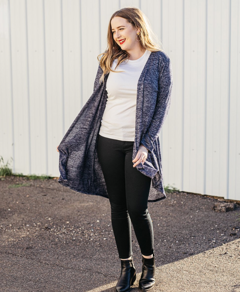Erin Open Cardigan -- Navy