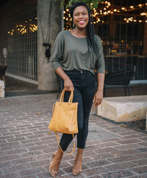 Lenox Dolman Top -- Army Green
