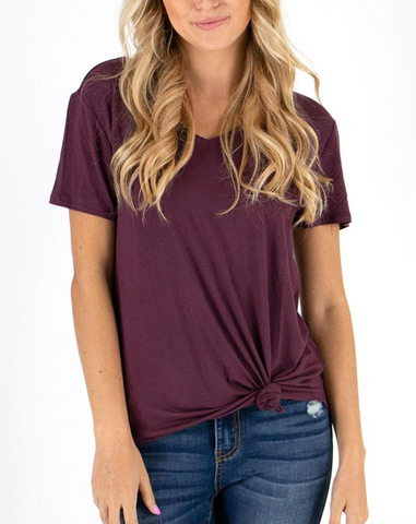 Perfect V-Neck Tee -- Mahogany