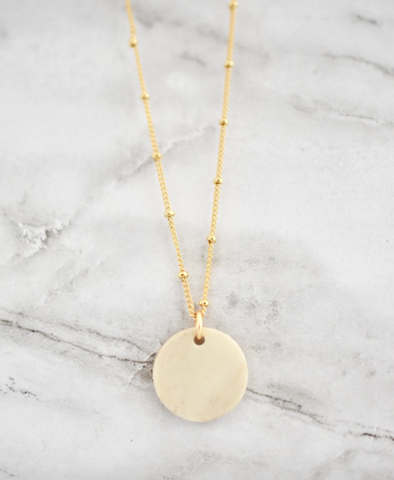 Tyra Necklace -- Circle Light