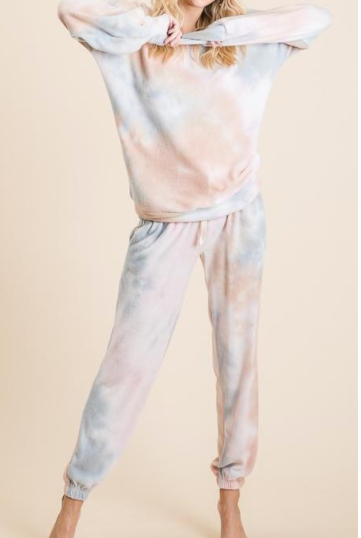 Willow Tie Dye Top -- Taupe