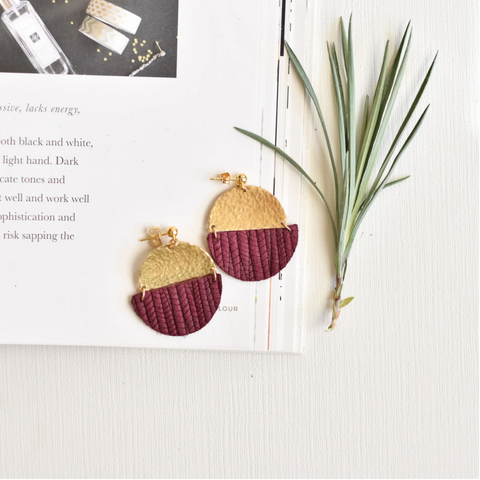 Maroon Claire Earrings