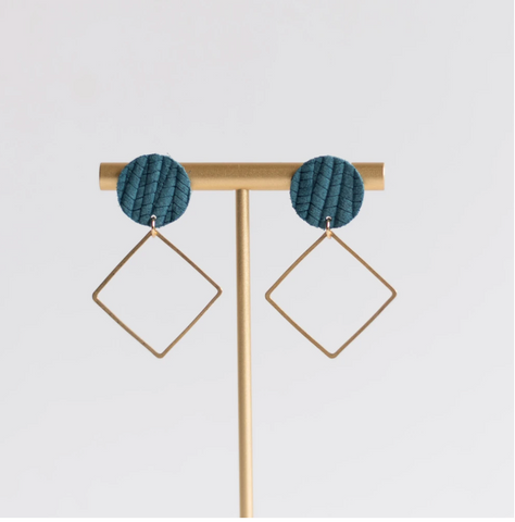 Teal Lara Earrings